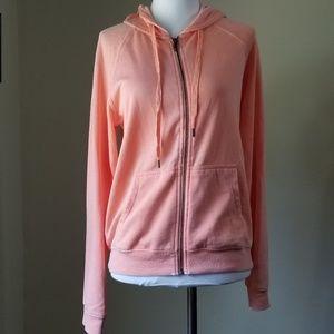 BP Sweater Zip Front Hoodie Pink SZ M (Flaw)